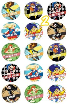 DC Superhero Girls Edible Cupcake Toppers 2