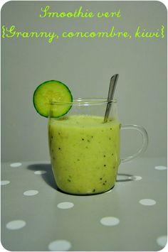 Smoothie vert et frais {pomme Granny, kiwi et concombre}