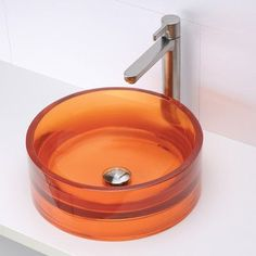 DECOLAV Incandescence Round Vessel Bathroom Sink Sink Finish: Magma