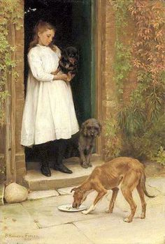 Charity --Percy Harland Fisher (1867 – 1944, English)