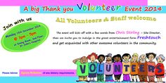 NHS Christmas Volunteer Thank You Event Monday 15th December 3pm - 5pm in the Dining Room at St. John's Hospital