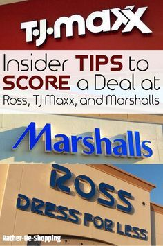 2895310a2 Frugal Hack #13: How To Score the Best Deal at TJ Maxx, Ross, and  Marshall's. Ross ClothingMarshalls StoreRoss ...