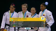 July 13 - Judo - Women's - 70 kg.  Cuba's Onix Cortes - Silver.  Canada's Kelita Zupancic - Gold.  Brazil's Maria Portela and Colombia's Yuri Alvear - Bronze.