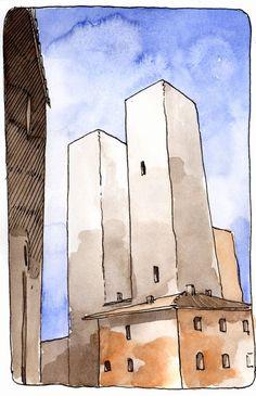 Towers on Moleskine on Behance