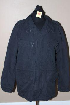 Gap Men's Canvas Cargo Parka Jacket Cinch Waist Black Sz XL $98 NWT #Gap #Parka