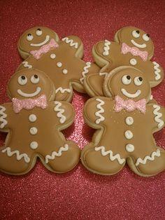Gingerbread men - Or sugar cookie men done in pink & green
