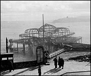 Plymouth Pier after the March 1941 raids