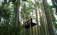 Tree Hotel. Casa na árvore. Na Suécia.