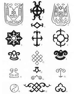 Patterns of the Tuva people