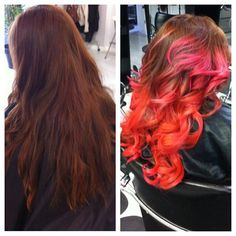 Before & after CHI Chromashine ombre by 210girls #CHIColor