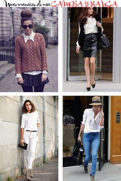 ideias de looks camisa branca