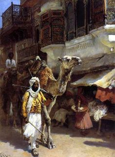 Man Leading a Camel - Edwin Lord Weeks American Academic Classical Artist 1849 - 1903