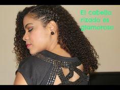 ▶ PEINADO PARA EL CABELLO RIZADO, side updo. - YouTube