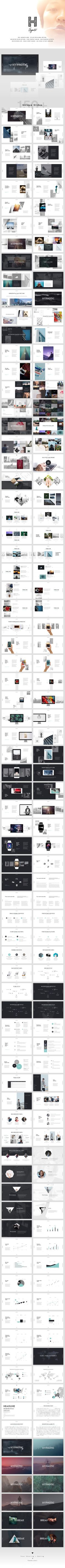 HYPNOTIC is progressive presentation builder with more than 150+ premade unique slide layouts. Timeless design and wide range of use make it a great tool for creating unique slides.