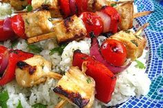 This Persian swordfish kabobs with cilantro tzatziki recipe is full of ...