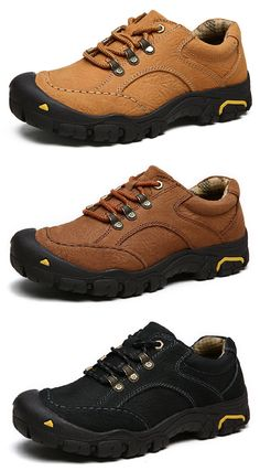 US$57.3#Men's Genuine Leather Soft Wear Resisitant Outdoor Casual Shoes