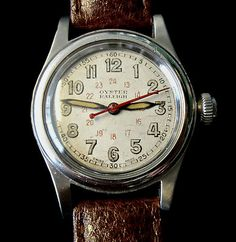 ROLEX OYSTER RALEIGH Vintage Steel Manual Wind Wrist Watch 1930s