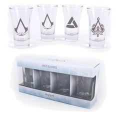 Lot de 4 Verres Shooters Assassin's Creed Symboles - 17.99€ - #Logostore