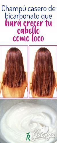 Champu casero de bicarbonato que hara crecer tu cabello como loco, champu sin sulfatos Tips Belleza, Remedies, Skin Care, Long Hair Styles, Beauty, World, Vestidos, Hair Care, Get Skinny