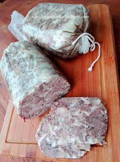 Domowy Salceson- pychotka! - Swojskie jedzonko Home Made Sausage, Cold Cuts, Kielbasa, Smoking Meat, Charcuterie, Sauce, The Cure, Food And Drink, Homemade