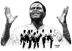Joseph Shabalala, Ladysmith Black Mambazo drawing by Sibambo Portraits Ladysmith Black Mambazo, Joseph, How To Draw Hands, Portraits, Ink, Drawings, Head Shots, Hand Reference, Sketches