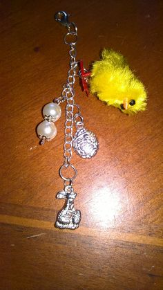 Happy Easter! easter chick bag / purse / key charm! by PetitechicboutiqueGB on Etsy