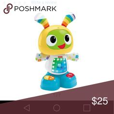 Dance and move beat bot Fisher price bright beat dance and move beat bot..new..only used to try out and put batteries in..doesnt have the box but it is super cute!! My little guy is scared to death of it..so sad!! ?? Other