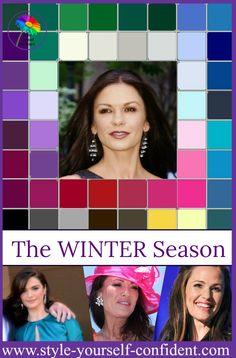 Winter Seasonal Color Analysis http://www.style-yourself-confident.com/seasonal-color-analysis-winter.html