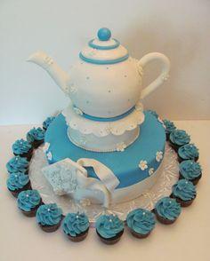 Teapot cake for tea party