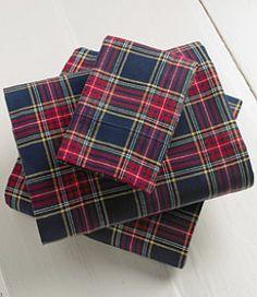 #LLBean: Heritage Chamois Flannel Sheet Set, Plaid