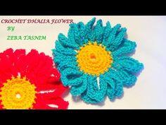 VERY EASY CROCHET DAHLIA FLOWER-1 - YouTube
