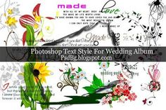 Text Style For Wedding Album With Clipart,Object Download