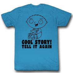 Family Guy Kids Shirt Cool Story Turquoise Toddler Tee T-Shirt Family Guy Shirts Family Guy Kids Shirt Cool Story Turquoise Toddler Tee T-Shirt
