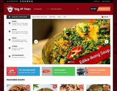 """Check out new work on my @Behance portfolio: """"Website for King of Soups"""" http://be.net/gallery/53624447/Website-for-King-of-Soups"""