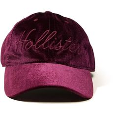 Hollister Velvet Dad Hat ($20) ❤ liked on Polyvore featuring accessories, hats, burgundy, burgundy hat, adjustable hats and velvet hat