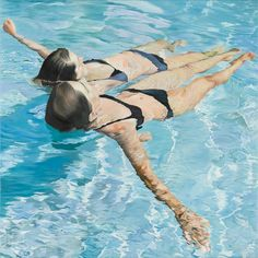 These hyper-realistic paintings by Spanish artist Josep Moncada Juaneda have me yearning for a refreshing dip in the pool. Summer, where art thou? Artist Painting, Painting & Drawing, Artist Art, Illustration Arte, Hyper Realistic Paintings, Art Thou, Spanish Artists, Selling Art, Oeuvre D'art