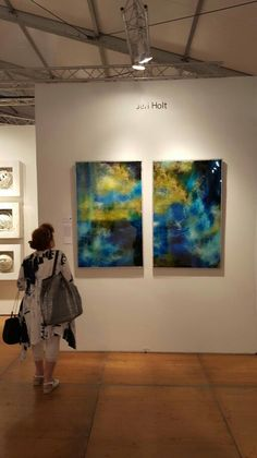 Just sent a picture of Nebula Delight hanging at Spectrum Miami by a thoughtful artist Kevin Grass who is in booth S1112.