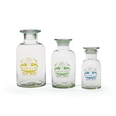 Add a classic look to your vintage bath or kitchen with this set of jars with stoppers. They're perfect for storing (and displaying) cotton balls, toothbrushes, flowers, herbs, spice, and everything ni...  Find the Everything Nice Jars with Stoppers - Set of 3, as seen in the Apothecary Chic Collection at http://dotandbo.com/collections/trending-apothecary-chic?utm_source=pinterest&utm_medium=organic&db_sku=91357
