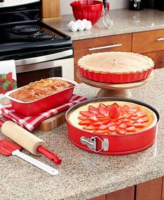 3-Pc. Bright Bakeware Sets