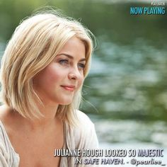 julianne hough safe haven hair. I just love how her hair looks short. And it looks like her hair texture/thickness is like mine.