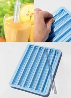 Mold for making Ice Straws... that's really interesting - I mean: Pinteresting.... ;o)