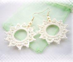 Hand Crochet and Beaded Snow White Cotton by CraftsbySigita