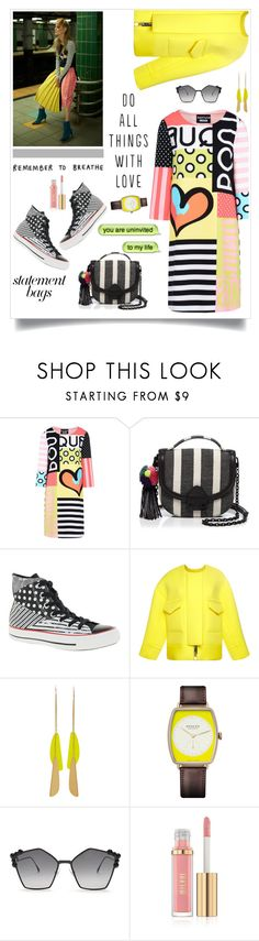 """""""Daywear"""" by hani-bgd ❤ liked on Polyvore featuring Boutique Moschino, Loeffler Randall, Converse, Roksanda, Isabel Marant, Nomos, Fendi and statementbags"""