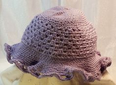 Lavender hat by The Crochety Rabbit