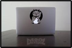 Lucky Cat - Macbook Air, Macbook Pro, Macbook decals, sticker Vinyl Mac decals Apple Mac Decal, Laptop, iPad