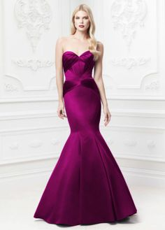 I would love to put all my bridesmaids in Zac Posen... all his colors are so acute, and jewel-toned... love.