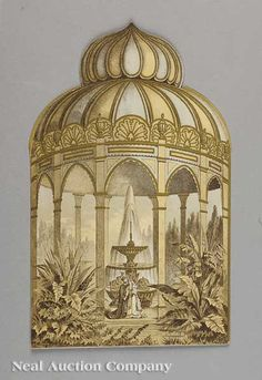 """Rex Ball Invitation, 1881, """"Arabian Nights Tales"""""""