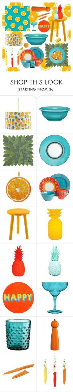 """""""Fruity kitchen!"""" by beanpod ❤ liked on Polyvore featuring interior, interiors, interior design, home, home decor, interior decorating, Rosa & Clara Designs, Fiesta, Pier 1 Imports and Raynaud"""