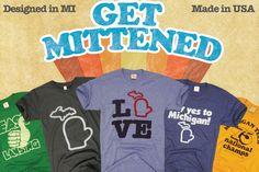 Michigan Mitten State Shirts! <3