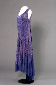 Evening dress, c. 1929, England. I have a shell pink dress of almost exactly the same design.